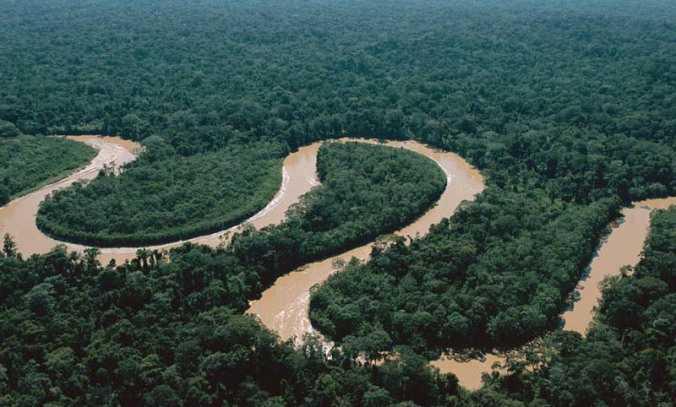Sungai Mamberamo merupakan sungai terlebar di Indonesia