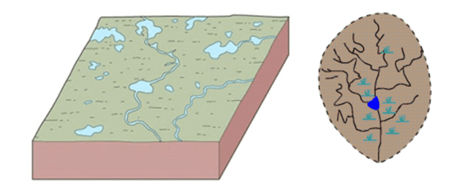 Pola Aliran Sungai Deranged