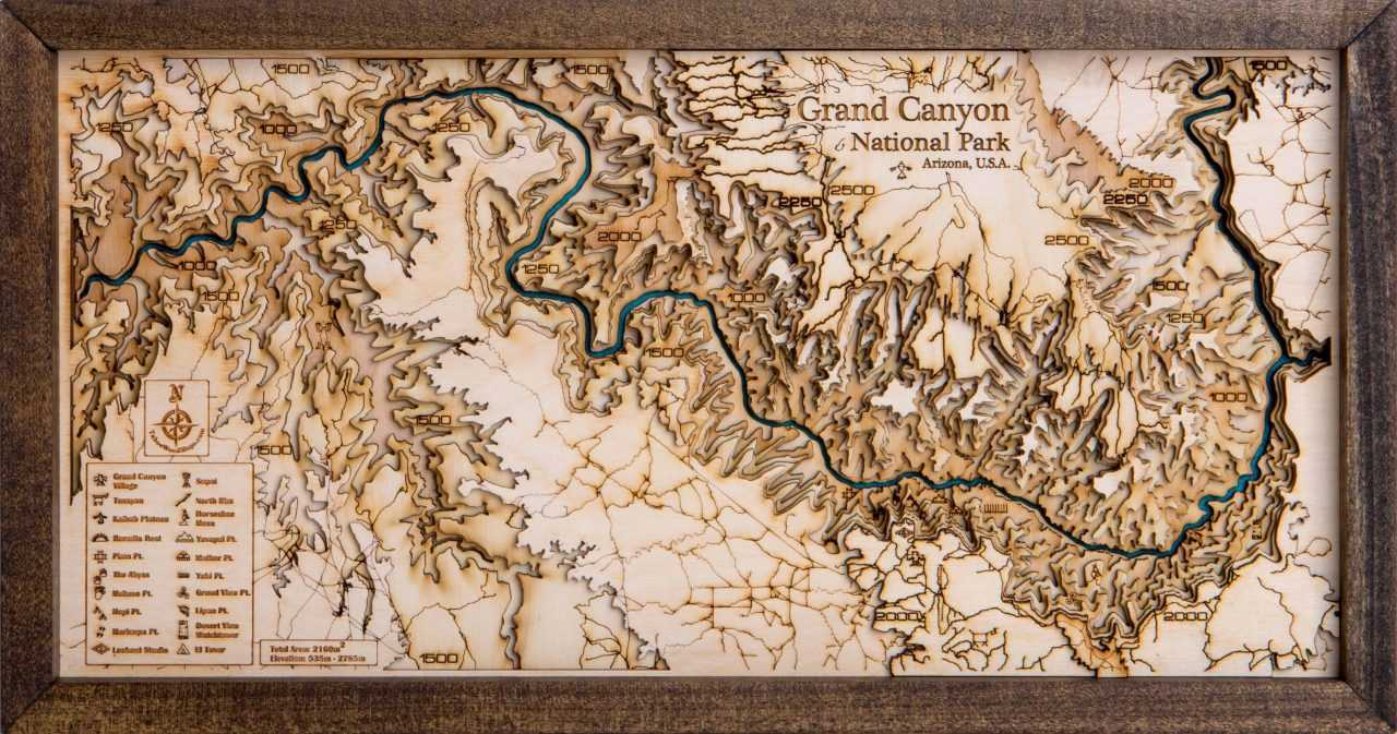 Topografi Grand Canyon
