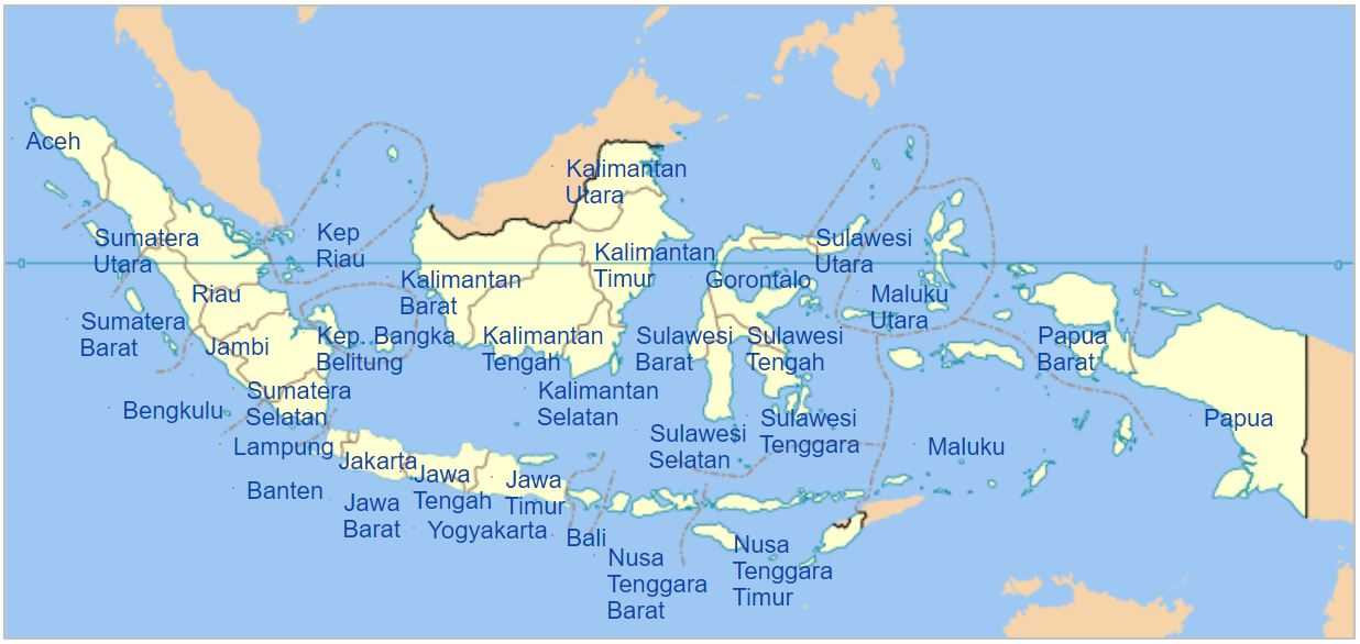 Letak Geografis, Astronomis, dan Geologis Negara Indonesia
