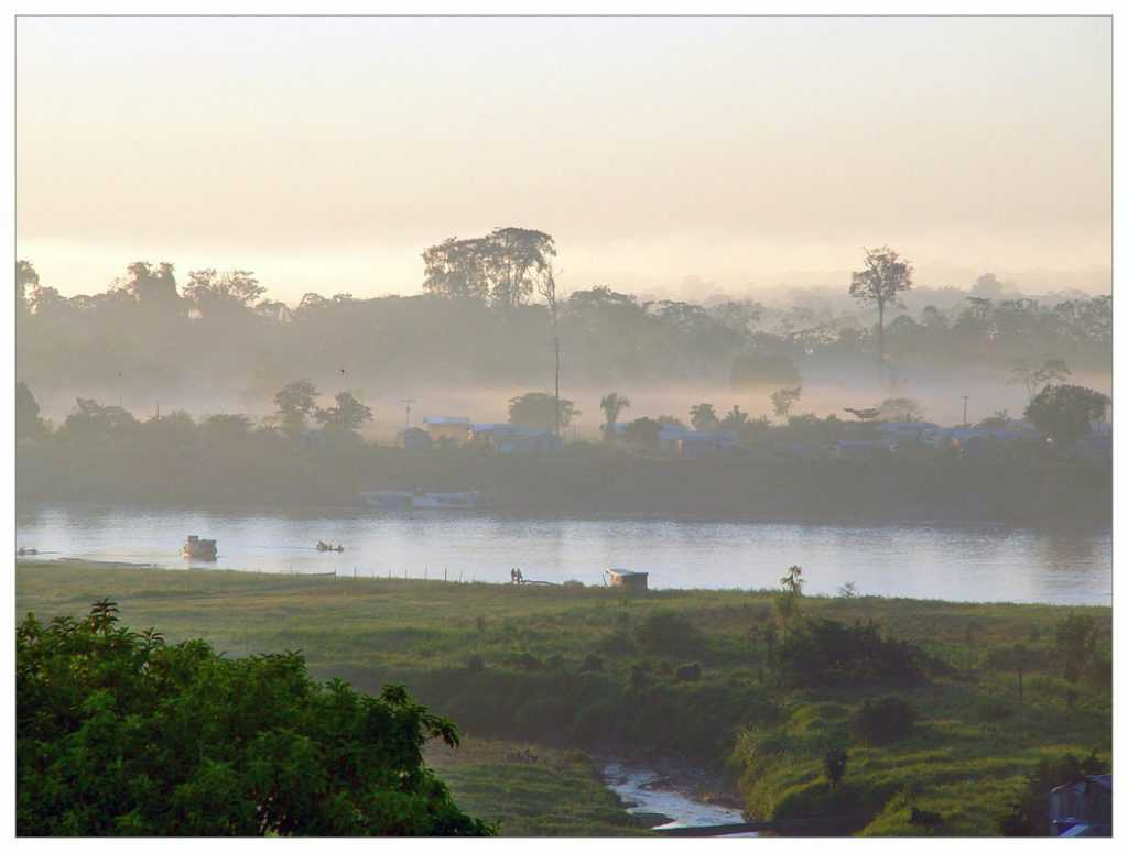Sungai Jurua terletak di sebelah barat sungai Purus. Kedua sungai ini memiliki sifat yang sangat mirip